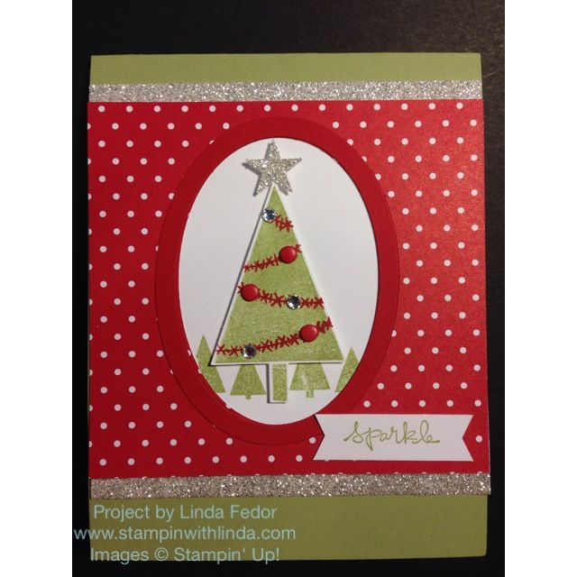 Sparkle Christmas Card with Stampin\u0027 Up! Good Greetings  Festival