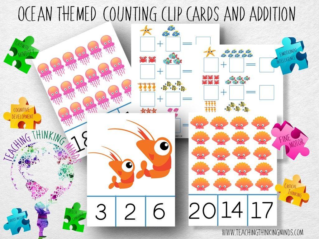 Ocean Theme Activity Bundle For Kids