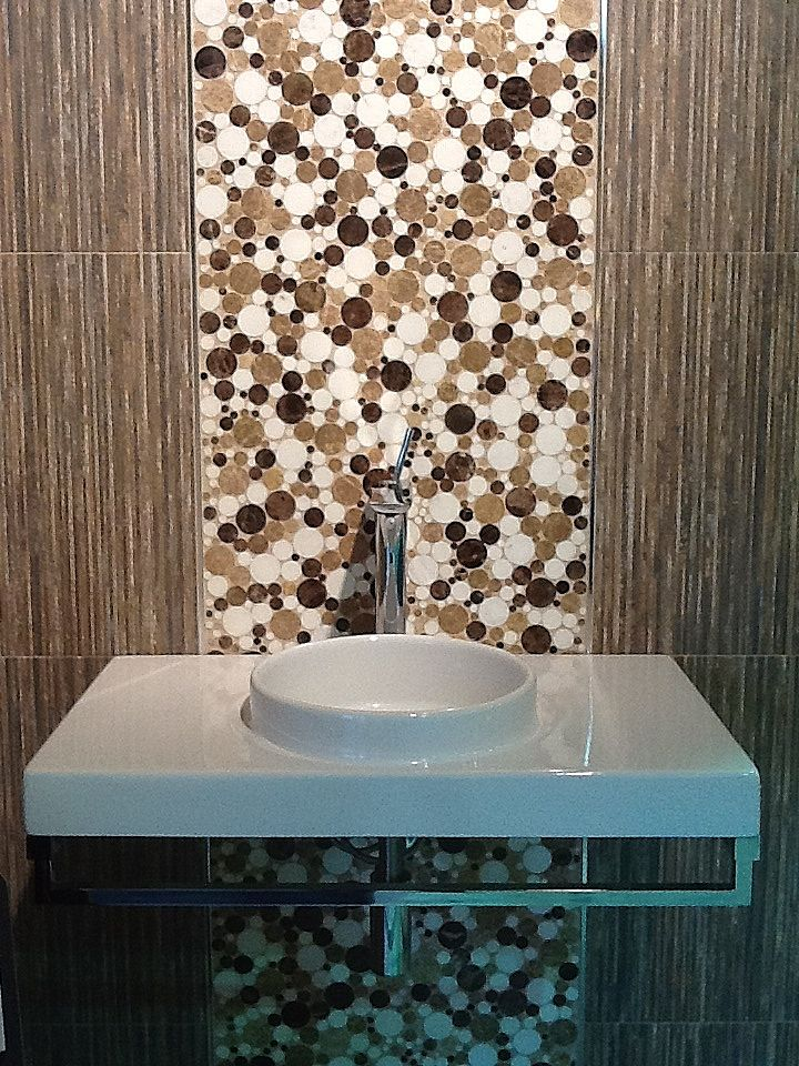A Close Up Shot Of A Display Vignette Designed For BestTile - Rockville bathroom showroom