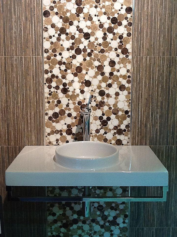 A Close Up Shot Of A Display Vignette Designed For BestTile - Bathroom showrooms in maryland