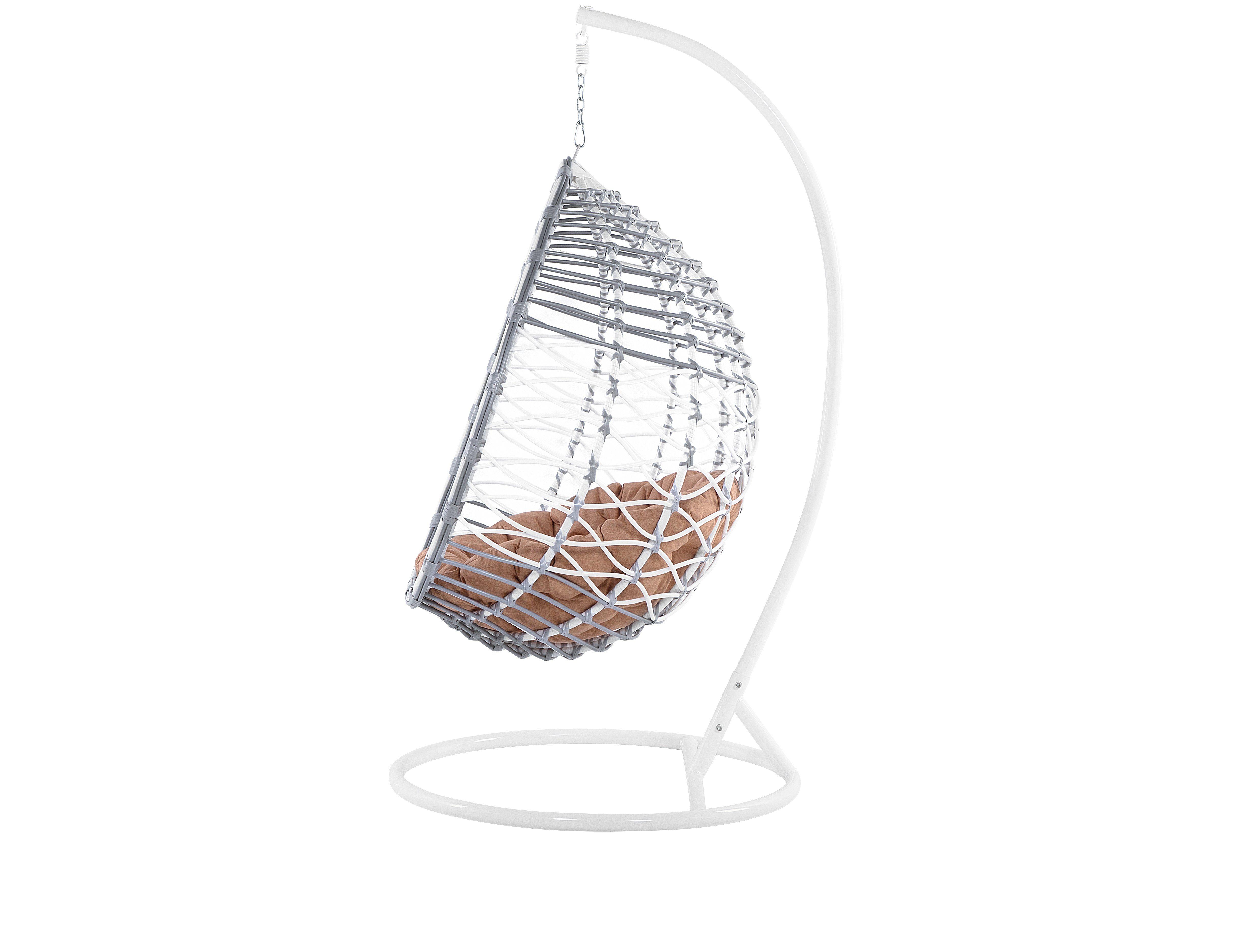 Poltrona Sospesa In Rattan.Sedia Poltrona Sospesa In Rattan Bianco Forio In 2020 Hanging