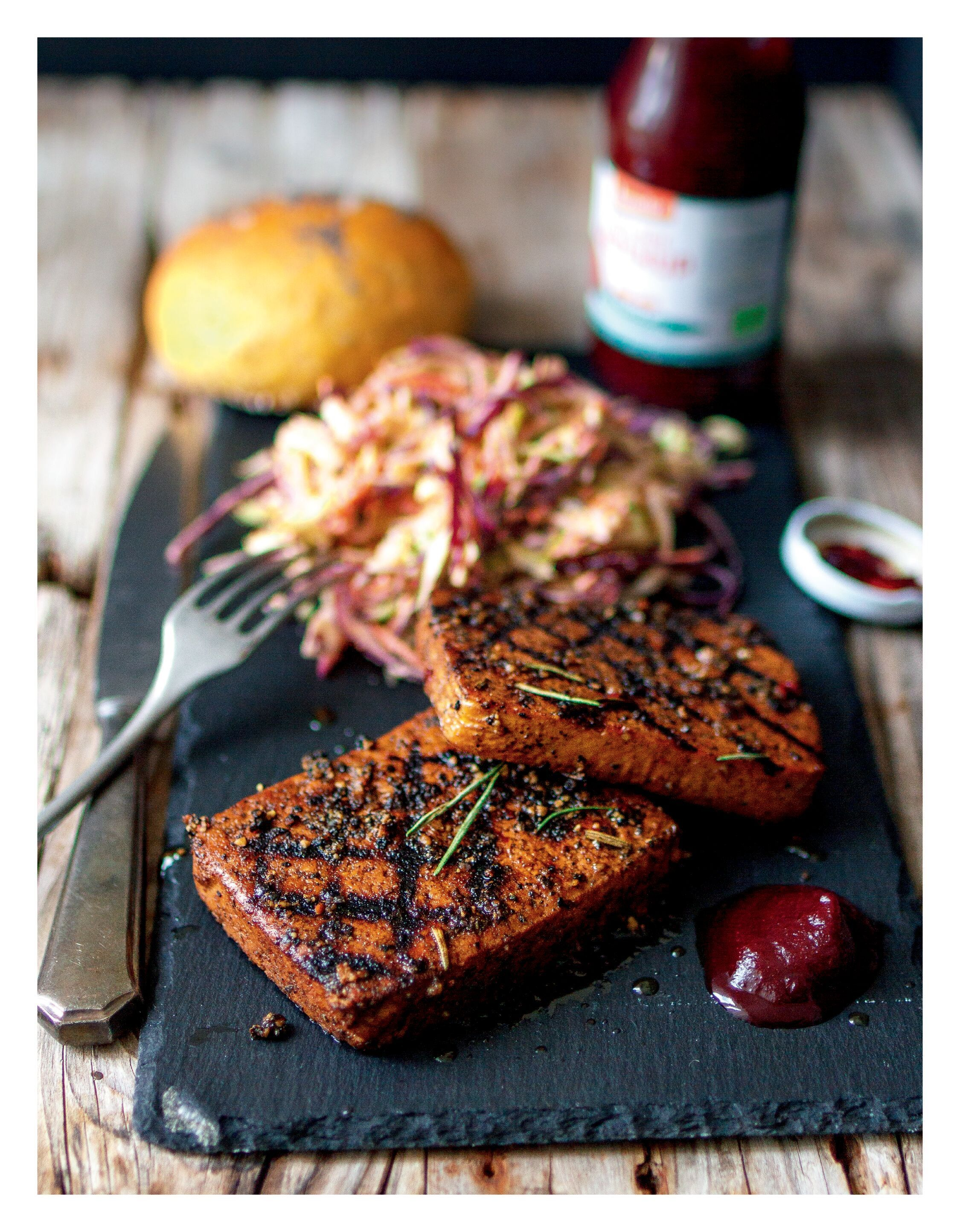 Peppered Tofu Steaks Vegan In 2019 Vegetarian Recipes