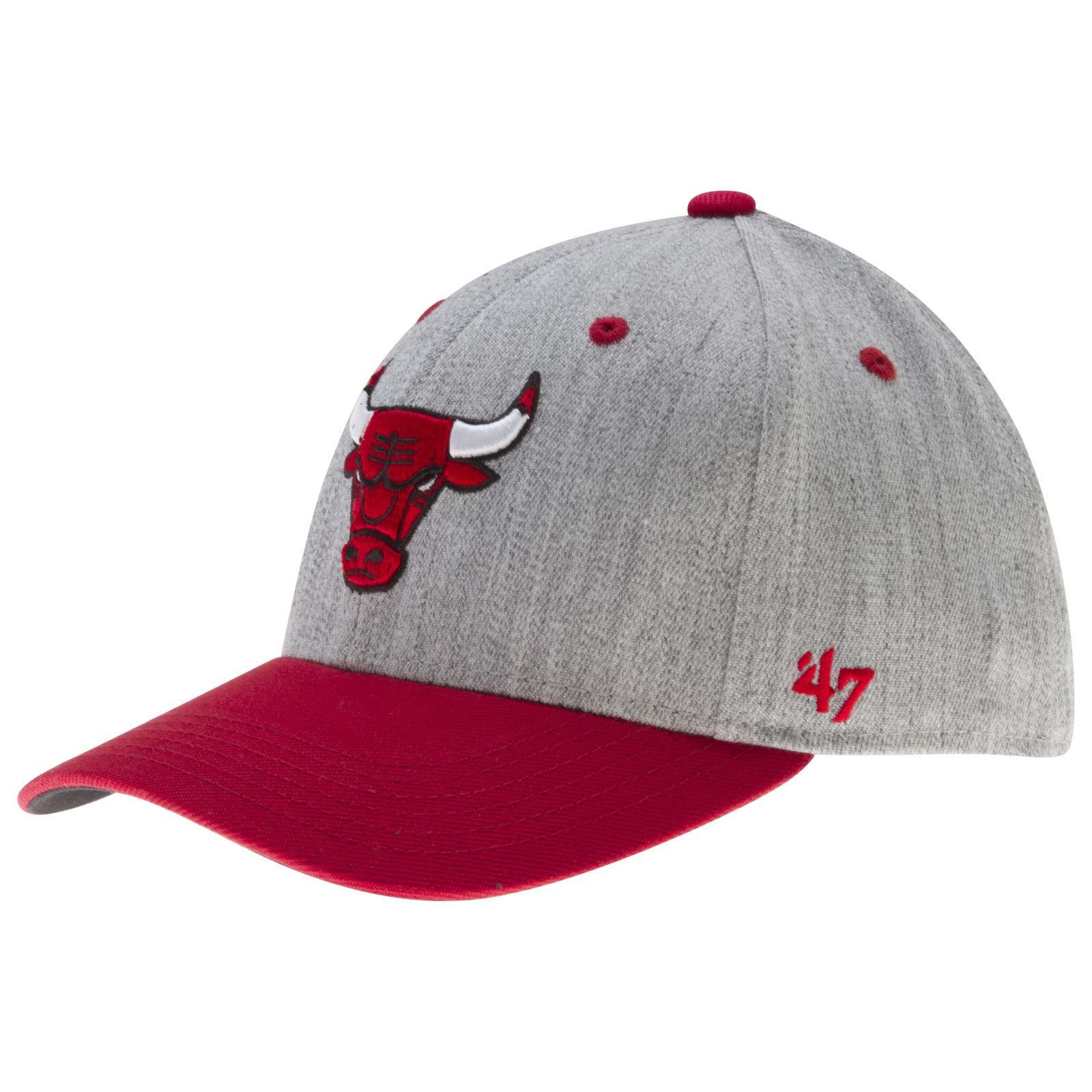 Chicago Bulls Heather Grey and Red Primary Logo Flex Fit Hat by  47  Chicago   ChicagoBulls  Bulls  BullsNation 1f6f4bdda69