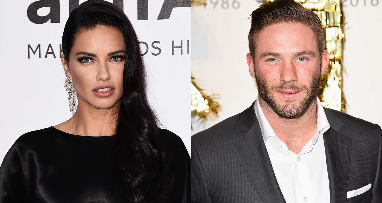Adriana Lima Is The Stunning Girlfriend Of Julian Edelman A Wide Receiver With The New England Patriots Julian Edelman Girlfriend Julian Edelman Adriana Lima