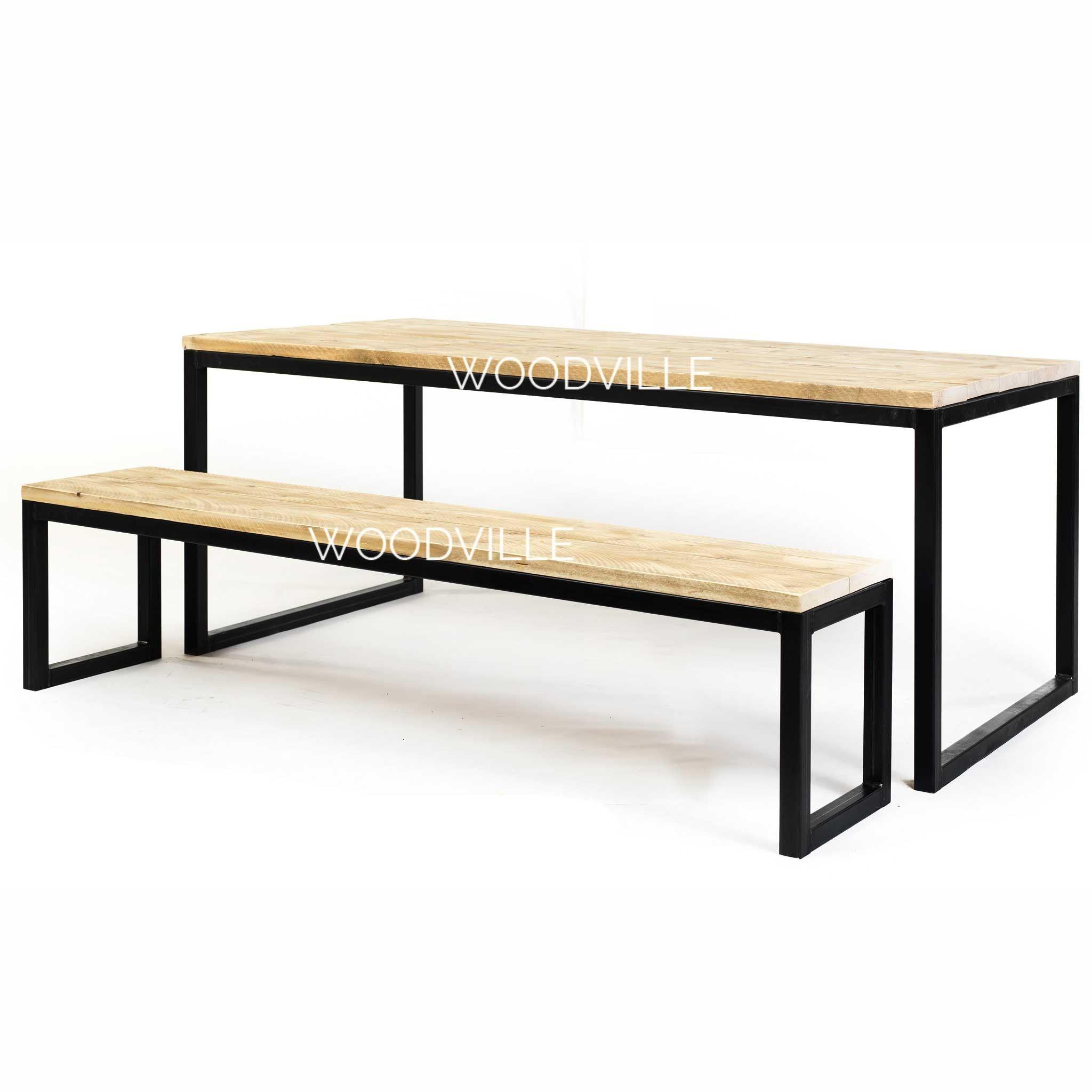 Esszimmer ideen im freien tafel olav  stahl und holz  pinterest  tisch tisch und stühle