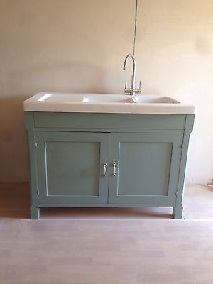 Habitat Oliva Freestanding Ceramic Sink Unit Belfast Style