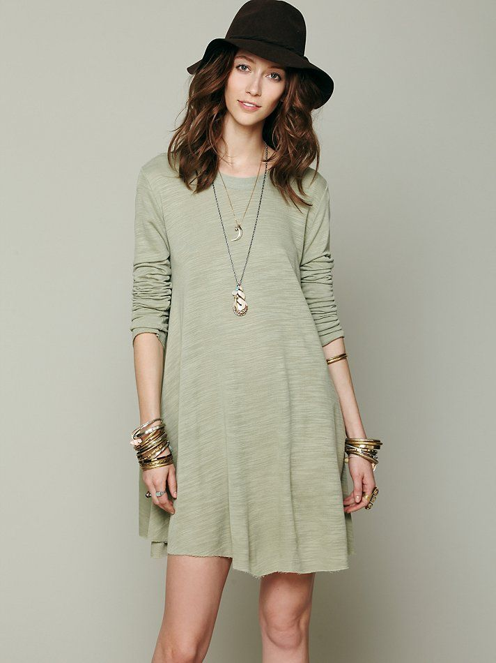 93d7d60cd0 FP Beach Long Sleeve Swing Dress at Free People Clothing Boutique ...