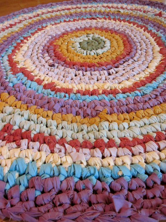 Handmade Rag Rug Crochet Rag Rug Girls Rag Rug Handmade Rag Rug Crochet Rag Rug Rag Rug