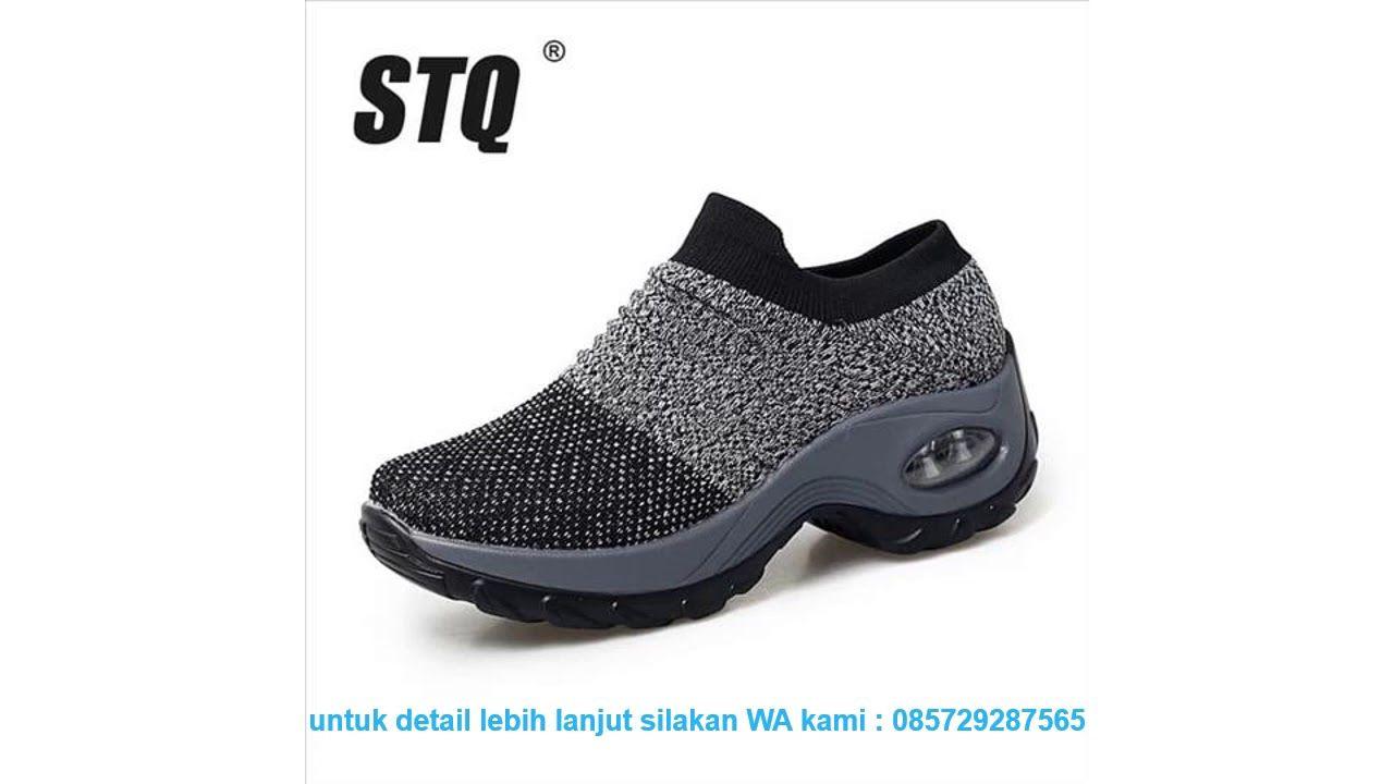 Review Sepatu Wanita Spring Women Sneakers Shoes Flat Slip Di 2020