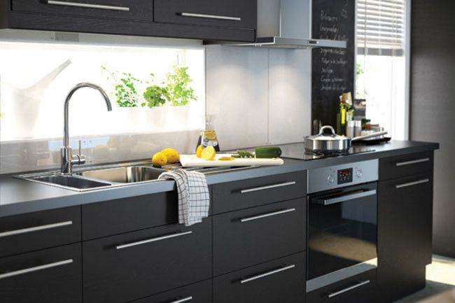 ikea kitchen inspirations - Ikea Black Kitchen Cabinets