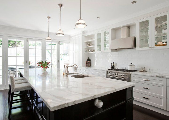 20 of the Most Gorgeous Marble Kitchen Island Ideas | Carrara ... - kitchen counter marble