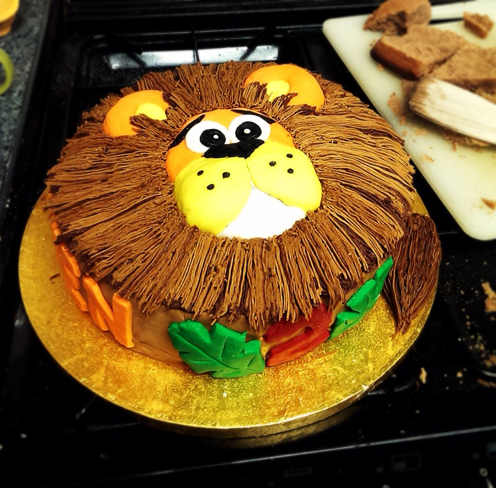 Cute Lion Birthday Cake For A Two Year Old Boy, Made By