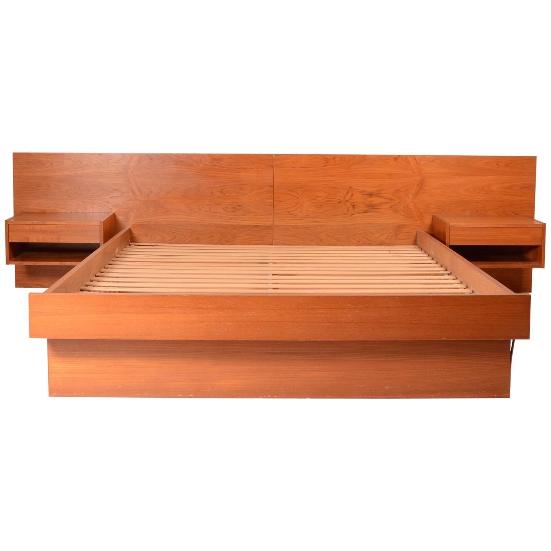 Danish Modern Queen Size Platform Bed in Teak From a