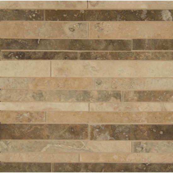 Laminate Flooring Accent Wall Random Arrangement: Travertine Mosaic Blend Floor & Wall Mosaic