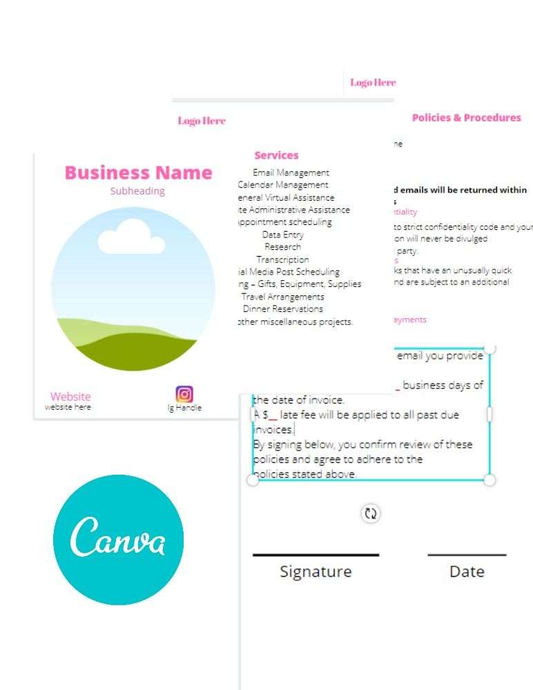 New Client Welcome Kit Canva Template Book Template Templates Unique Items Products