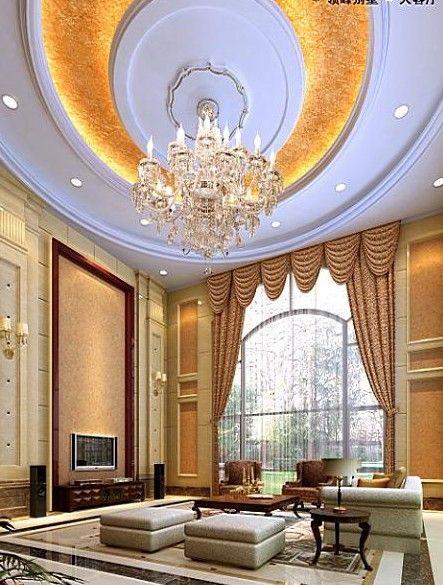 Villa 3d Model Of A Large Living Room 3d Model Download Free 3d Models Download Large Living Room Luxury Living Room