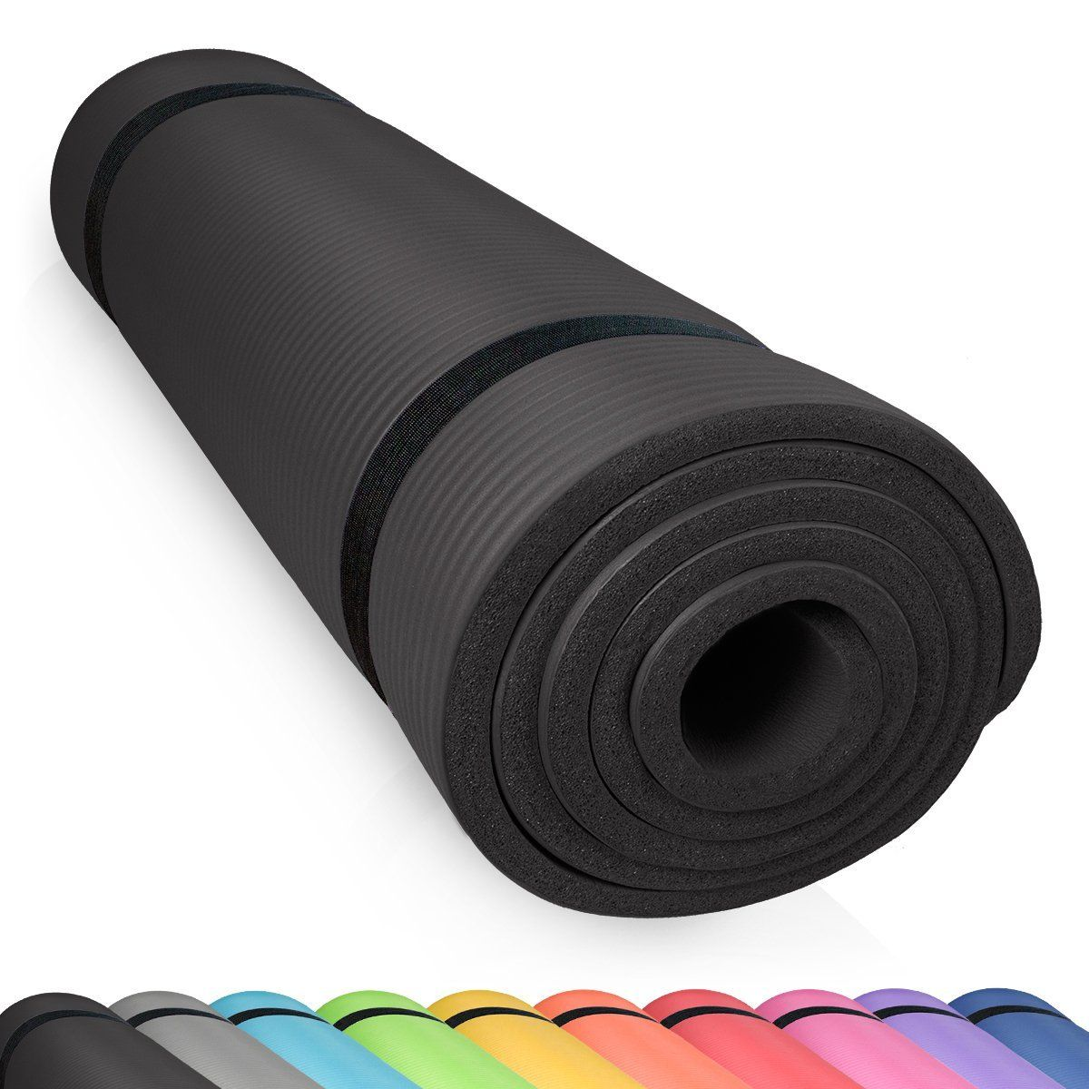 Extra Epais 10 mm // 15 mm Parfait pour des Exercices au Sol Les Pilates Le Camping des Stretching 180 x 60 cm Le Gym des Abdominaux TechFit Tapis de Yoga et Fitness