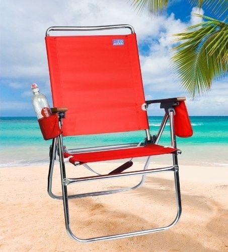 New Rio Pacific Hi Boy Beach Chair Folding Patio Outdoor