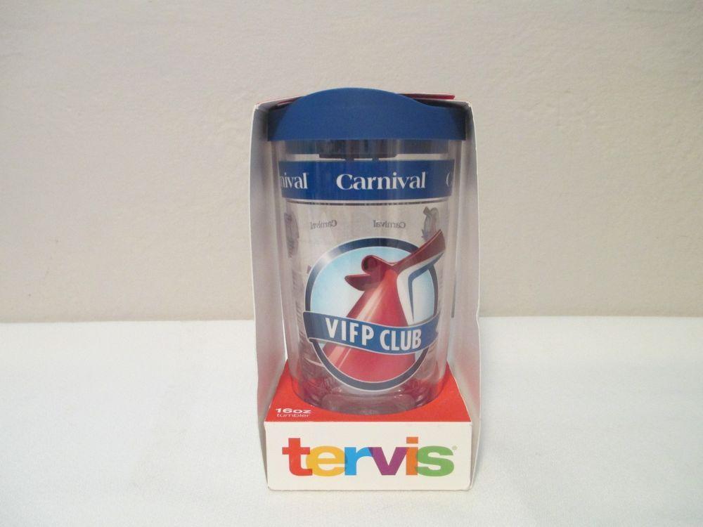 Carnival Cruise Lines VIFP Hot Cold Tervis Tumbler Blue 16oz. Platinum Member