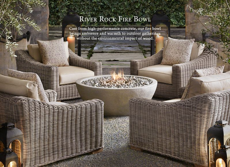 Fire Pit With Comfy Chairs Restoration Hardware Outdoor