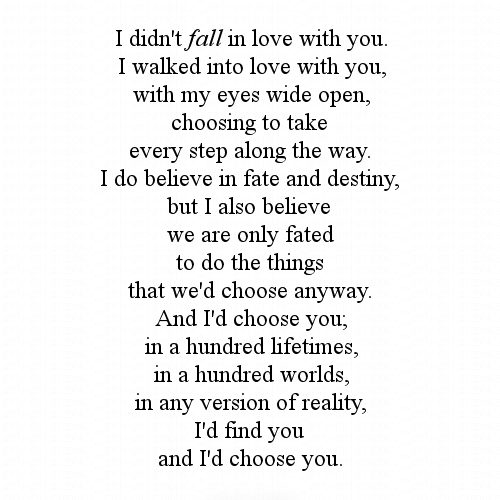 what happens when you fall in love