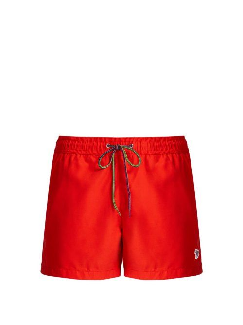 d51cb8adf2 PAUL SMITH PAUL SMITH - ZEBRA APPLIQUÉ SWIM SHORTS - MENS - RED. #paulsmith  #cloth