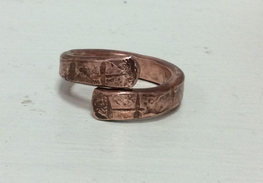 Hammered copper ring.Steampunk copper ring.Viking copper ring ...