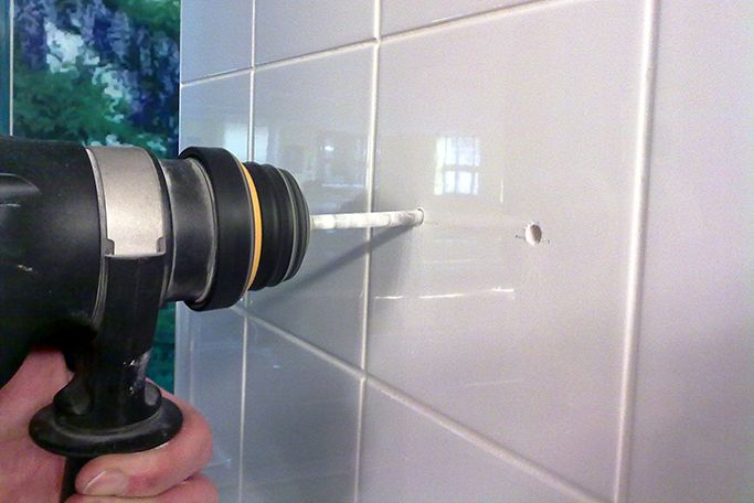 How To Drill Through Tiles Without Cracking Them Ceramic Tiles Tiles Shower Tile
