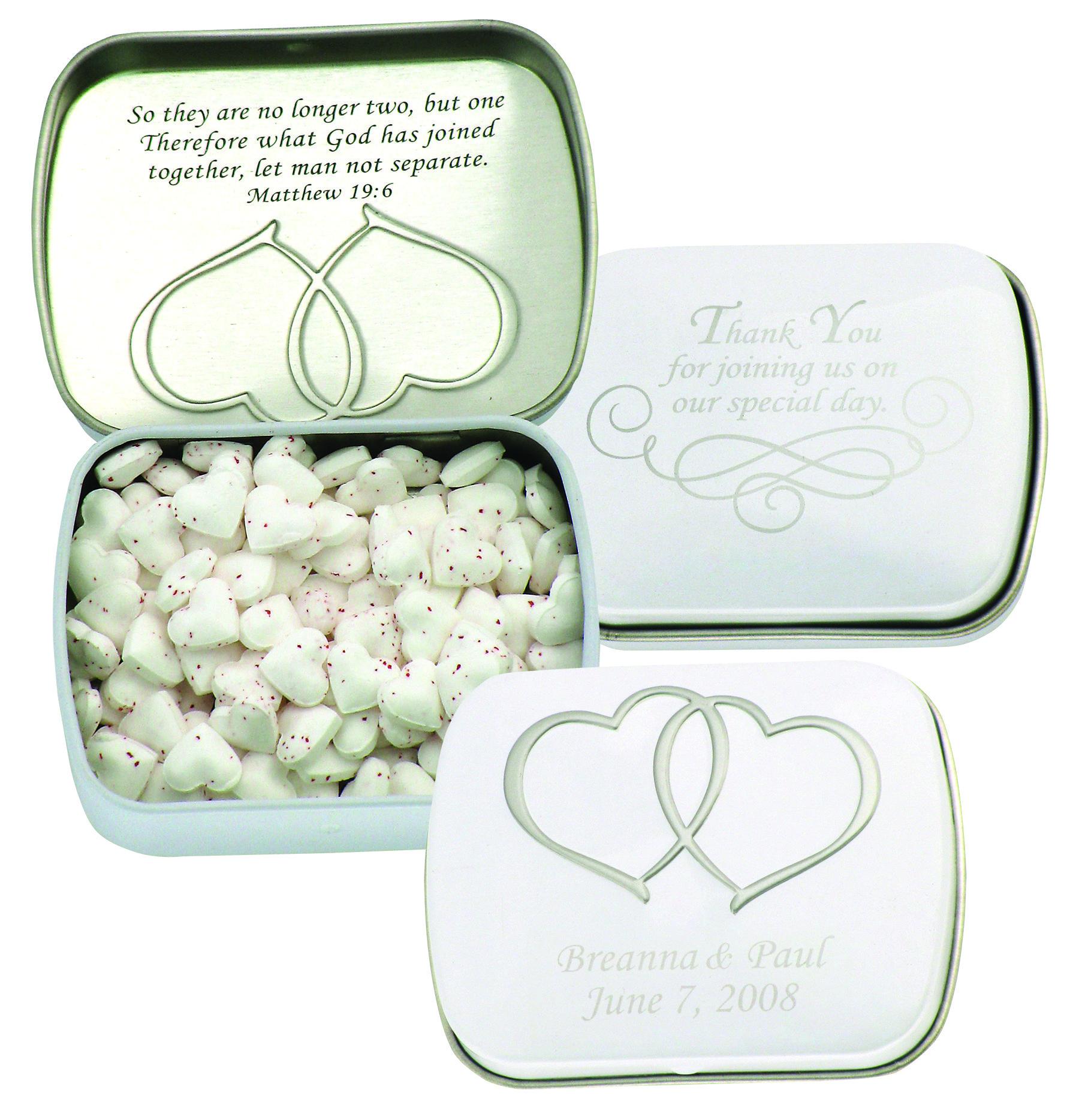 These beautiful wedding tins make perfect wedding favors to cherish ...