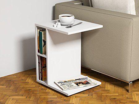 Ceylin Table du0027appoint - Table basse moderne à roulettes au design