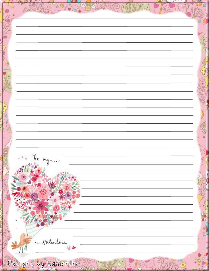 Printable writing paper stationery