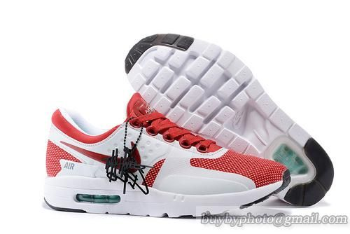 85ed9a78c8 ... closeout mens and womens nike air max zero jogging shoes white wine red  db65a cb32a