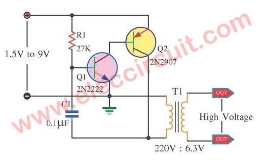 How To Make 1 5v To 220v Inverter Circuit Power Supply Circuit