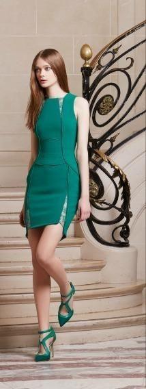 Leighton Meester wearing Elie Saab Pre Fall 2014 Dress.