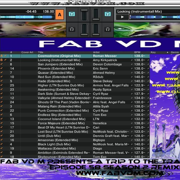 Fab vd M Presents A Trip To The Trance World Episode 58 Season 2 Remixed. Mixed in key By : Fab vd M (Dj,Producer,Remixer) You can like Fab vd M at face book here : www.facebook.com/fabvdm1979  Look below to other websites from us, and follow us on the other websites : www.fabvdm.com www.tranceworldradio.com www.clubdanceradio.com Follow Twitter : https://twitter.com/fab_vd_m Soundcloud: https://soundcloud.com/fab-vd-m Youtube : https://www.youtube.com/user/may