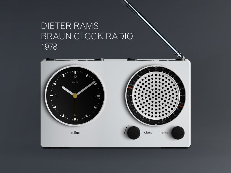 dieter rams braun clock radio 19781 vintage alarm clocks pinterest dieter rams and ui design. Black Bedroom Furniture Sets. Home Design Ideas