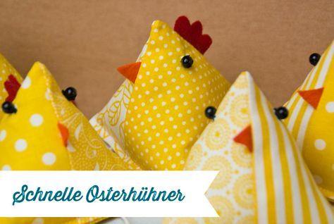 Photo of Schnelle Osterhühner   Nähanleitung – Frau Fadenschein