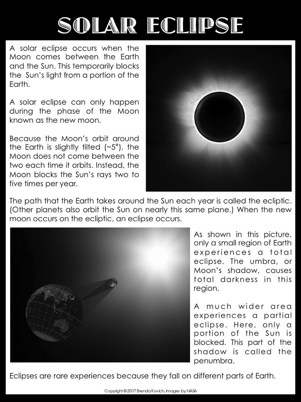 Solar Eclipse Resources For Kids And Teachers Enjoy Teaching Solar Eclipse Facts Solar Eclipse Solar Eclipse Activity