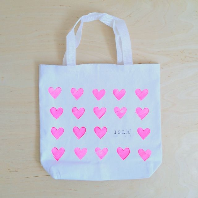 Paint Polyester Tote Bags Diy And The Most Important Step Of All If They Have A Sibling Make Sure