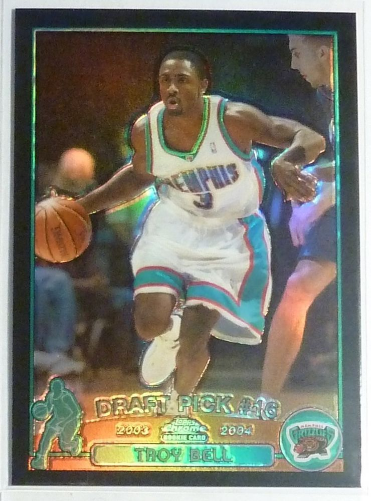 2003-2004 #Topps #Chrome Troy Bell Black #Refractor #Rookie Card #RC 137/500 #SP http://r.ebay.com/pWJJnX @eBay #nba #basketball #playoffs