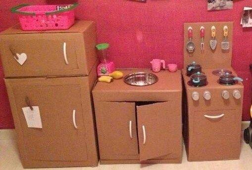 20 Nuevas Ideas para Hacer Cocinas de Cartón para niños y niñas