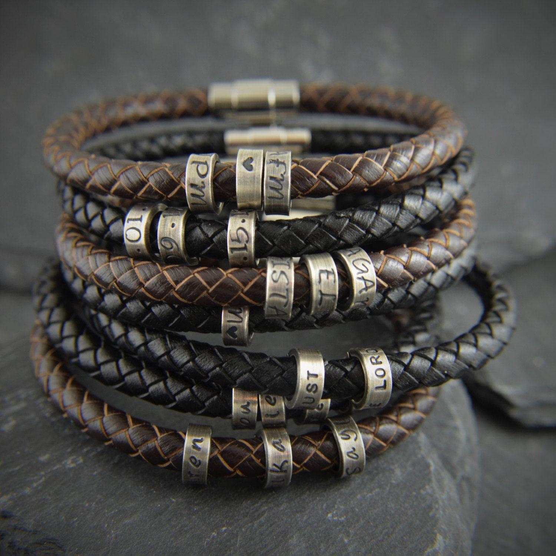 Gift For Men Mens Personalized Bracelet