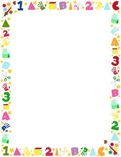 Marcos Decorativos Infantiles Para Colorear