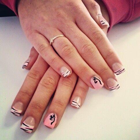 Browning nails, country nails, pink and black nails - Browning Nails, Country Nails, Pink And Black Nails Nails