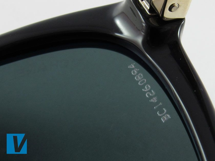 New Chanel sunglasses feature a serial number etched into the right lens. The code consists letters and numbers with no spaces between the characters. Check that the etching is clear and straight. Older models might not feature this code.