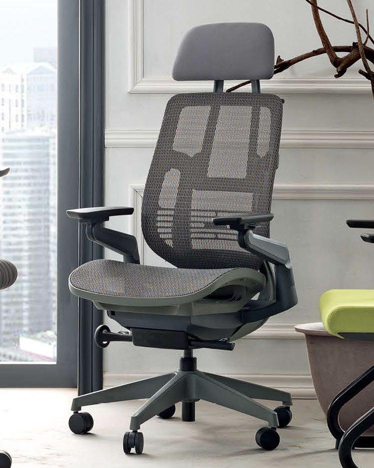 Ergoman 360 high back ergonomic mesh chair work space