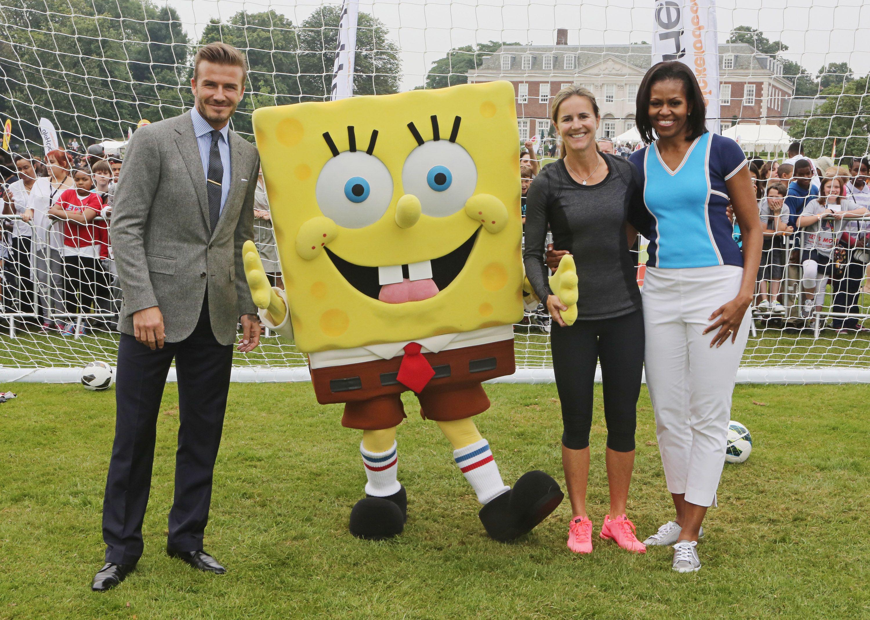 David Beckham, Spongebob Squarepants, Brandi Chastain And Michele Obama At
