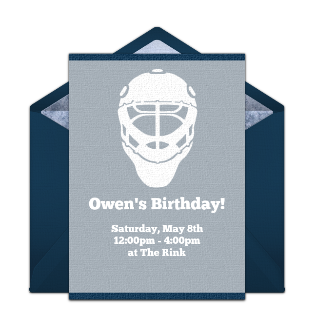 Free hockey invitations hockey birthday parties hockey and birthday party ideas stopboris