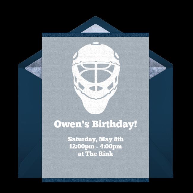 Free Hockey Invitations Hockey birthday parties Hockey and