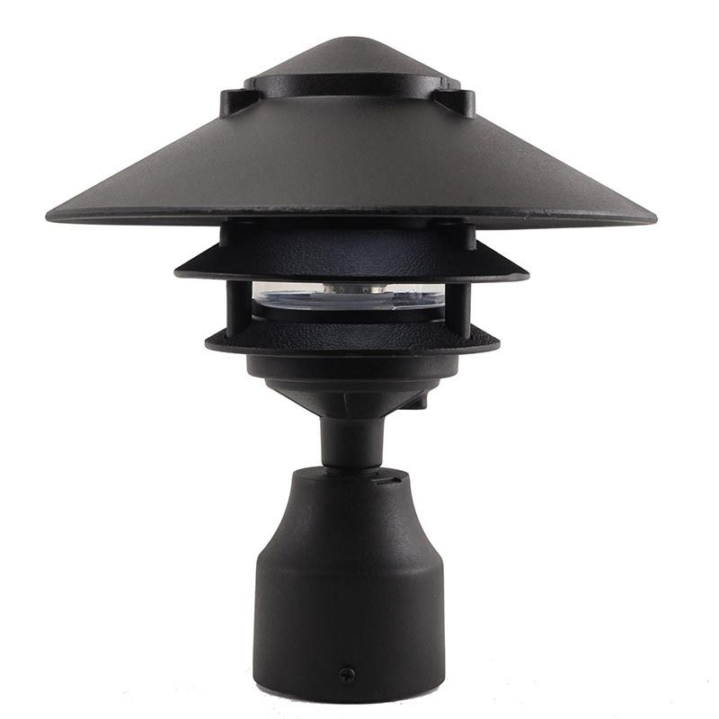 12v 120v Large Top Cast Aluminum 3 Tier Pagoda Post Light Ppc351 Post Lights Post Mount Lighting Led Outdoor Lighting